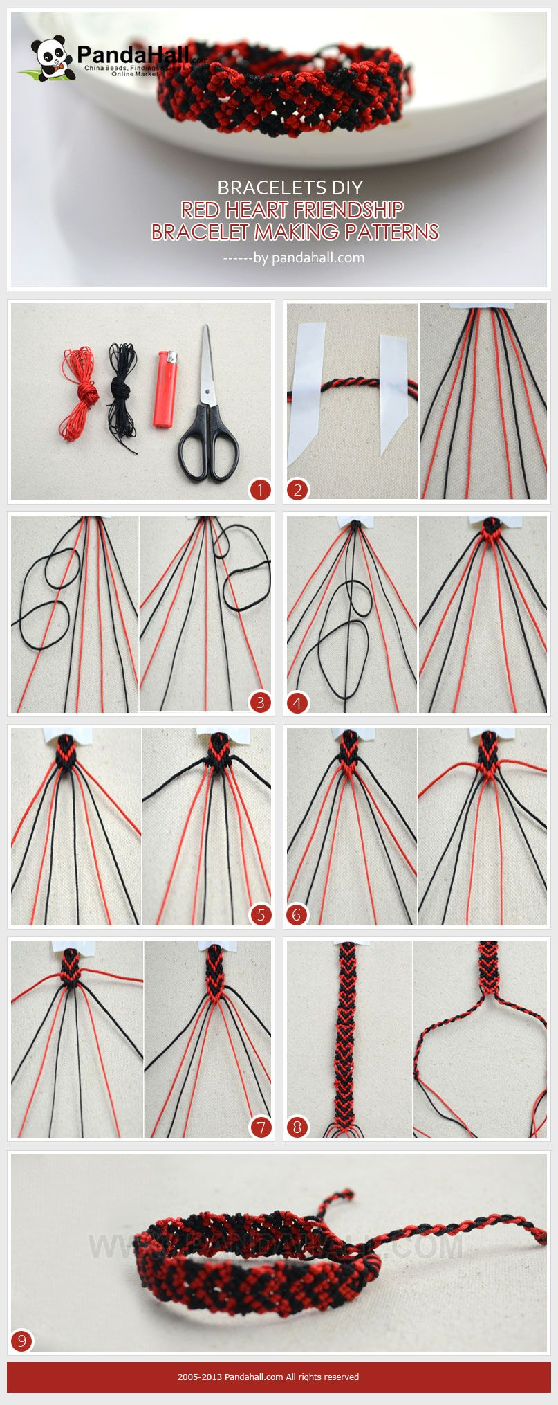 In the bracelets diy project we present you a fine way about red