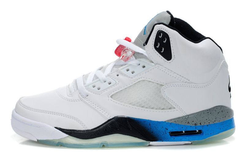 ebay en ligne Air Jordan Retro 5 Bols Bleu Et Blanc agréable le plus récent grande vente Centre de liquidation DBxxMD9B5c
