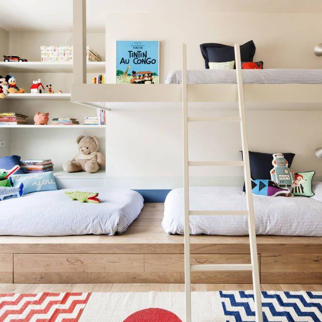 Resultado de imagen de habitacion cama nido estilo nordico for Dormitorio infantil nordico