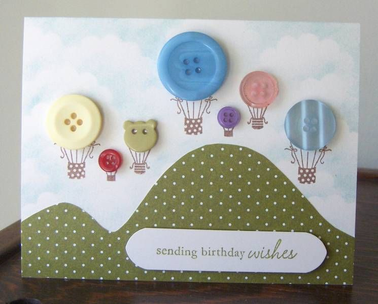 card making ideas with buttons