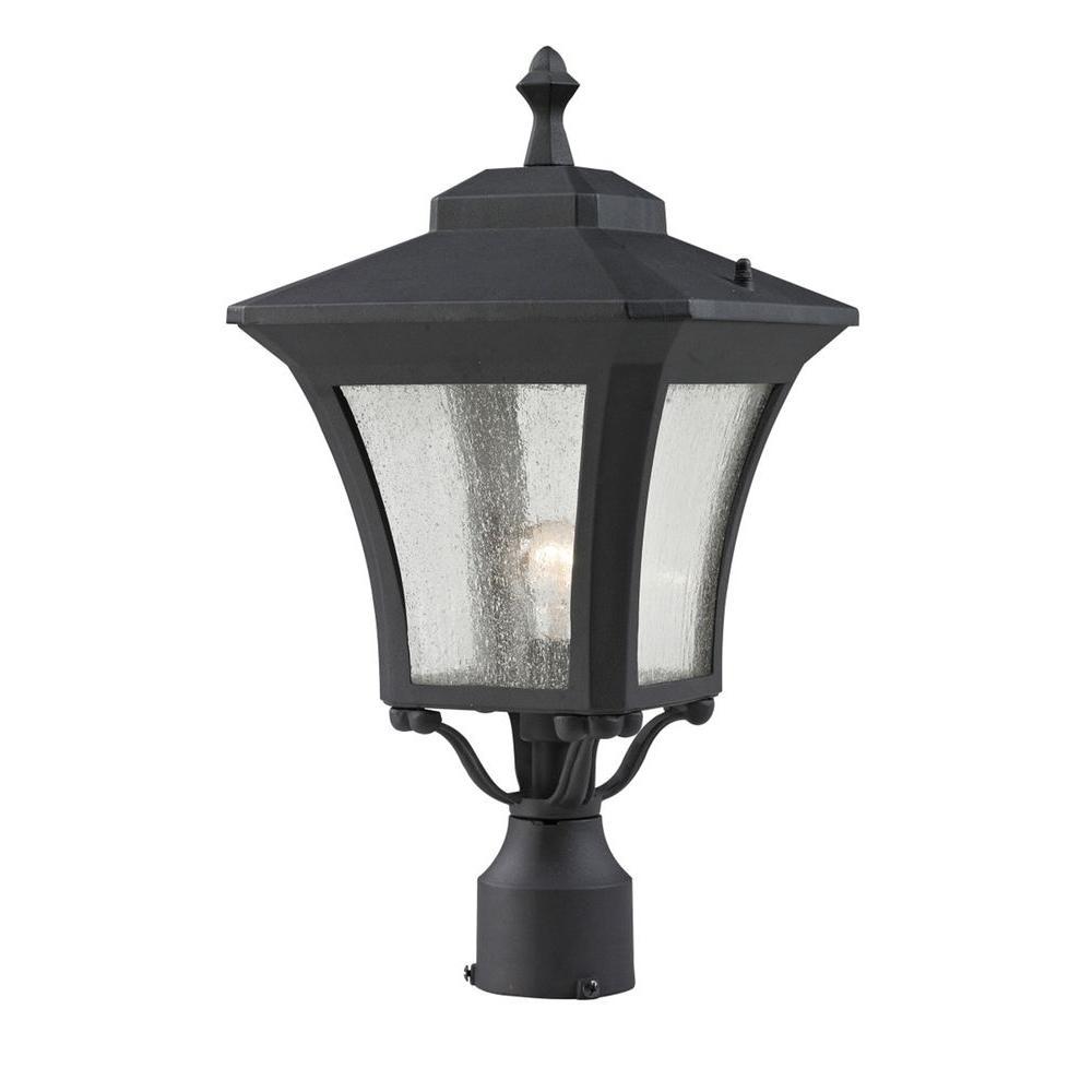 Filament Design Lawrence 1 Light Outdoor Sand Black Incandescent Post Light Outdoor Post Lights Outdoor Lighting Home Lighting