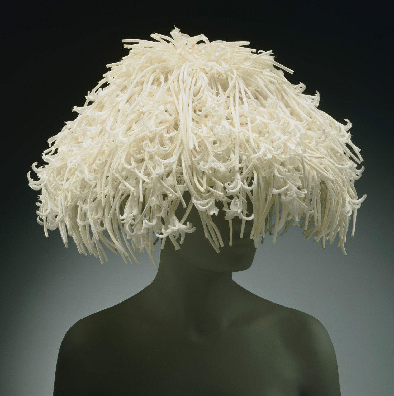 Woman's 'Hyacinth' hat | United States, 1959 | Designed by Mr. John (John P. John), American (born Germany), c. 1902-1993 | Curled linen organdy, stiffened nylon net | Philadelphia Museum of Art