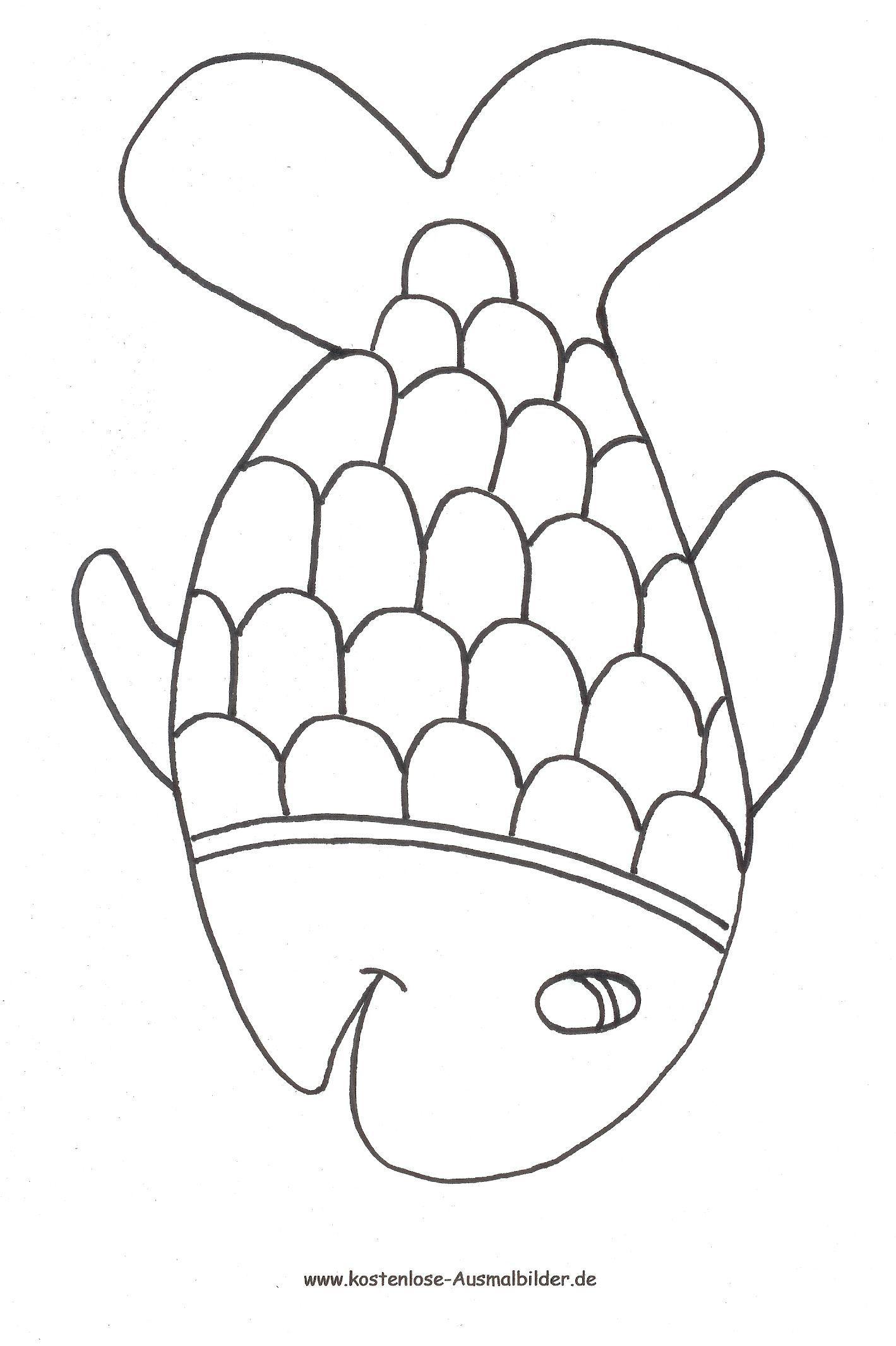 regenbogenfisch ausmalbilder malvorlagen  best style news