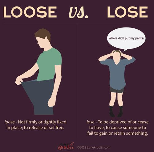 Image result for lose vs loose
