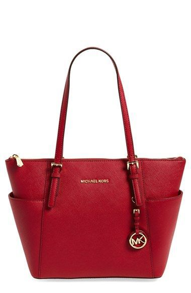 """MICHAEL Michael Kors 'Jet Set' Leather Tote available at #Nordstrom """"in the ballet/gold , such a classic"""" BA"""