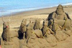 Santa Sand Art ~ Artist unknown