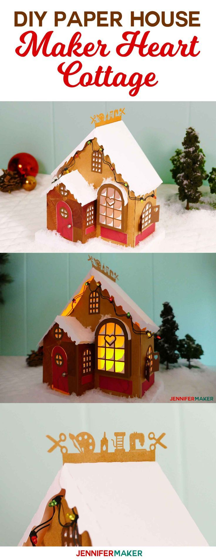 DIY Paper Village Craft Cottage Diy christmas village