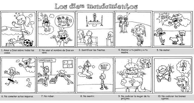 PASATIEMPOS Y CRUCIGRAMAS: Dibujos sobre los 10 Mandamientos para ...