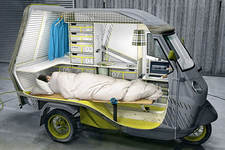 Ape wohnmobil bufalino wohnmobil innenausbau und wohnwagen for Wohnmobil innendesign