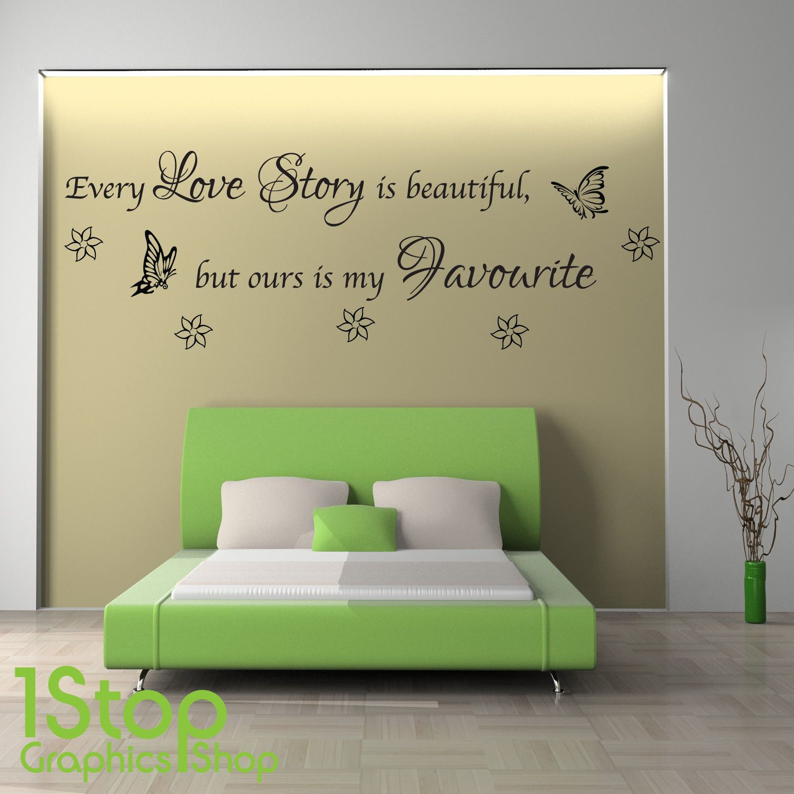 Every love story wall sticker quote bedroom lounge wall art decal