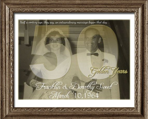 Gifts For Wedding Anniversary For Couple: 50th Wedding Anniversary Gift