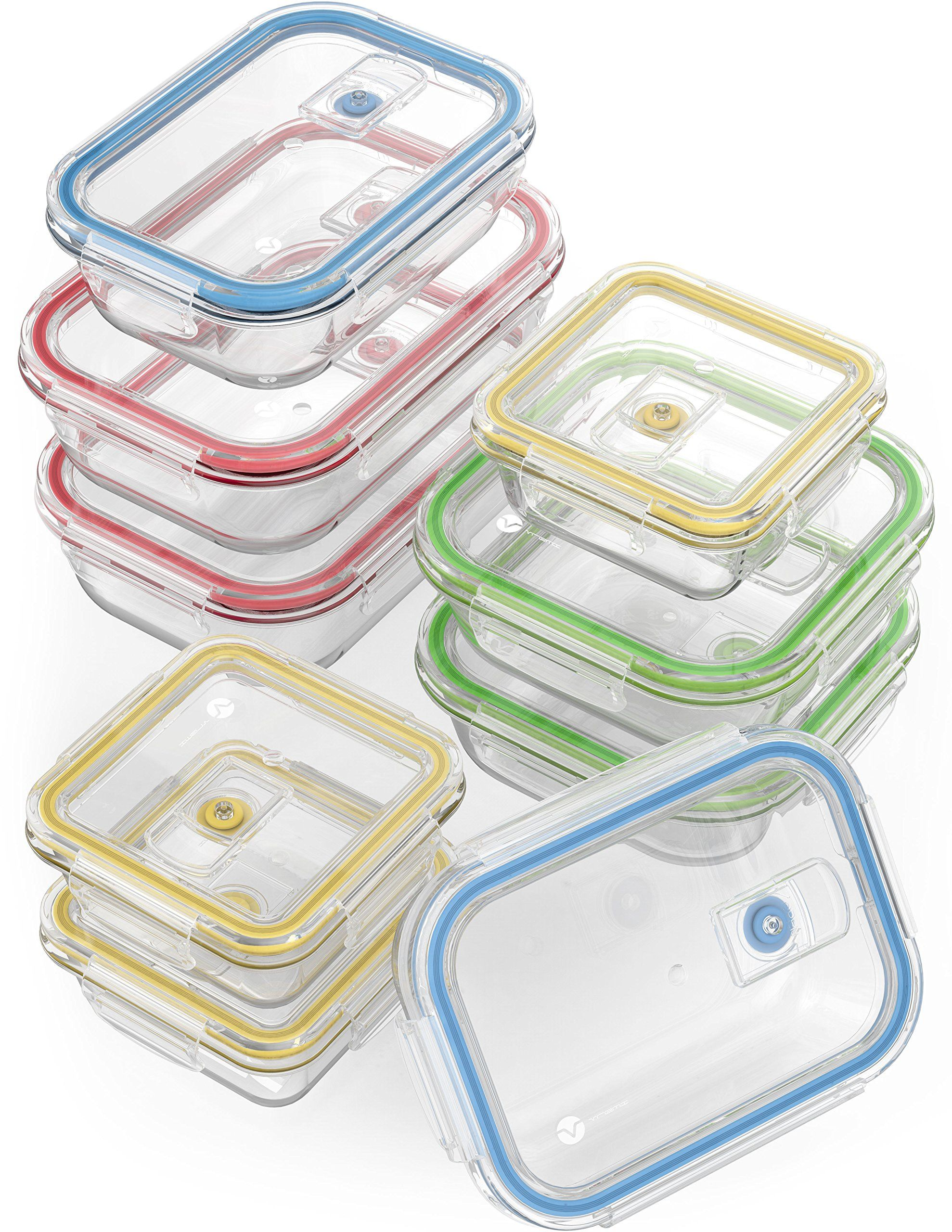 Glass Food Storage Containers With Locking Lids Vremi 18 Piece Glass Food Storage Containers With Locking Lids  Bpa