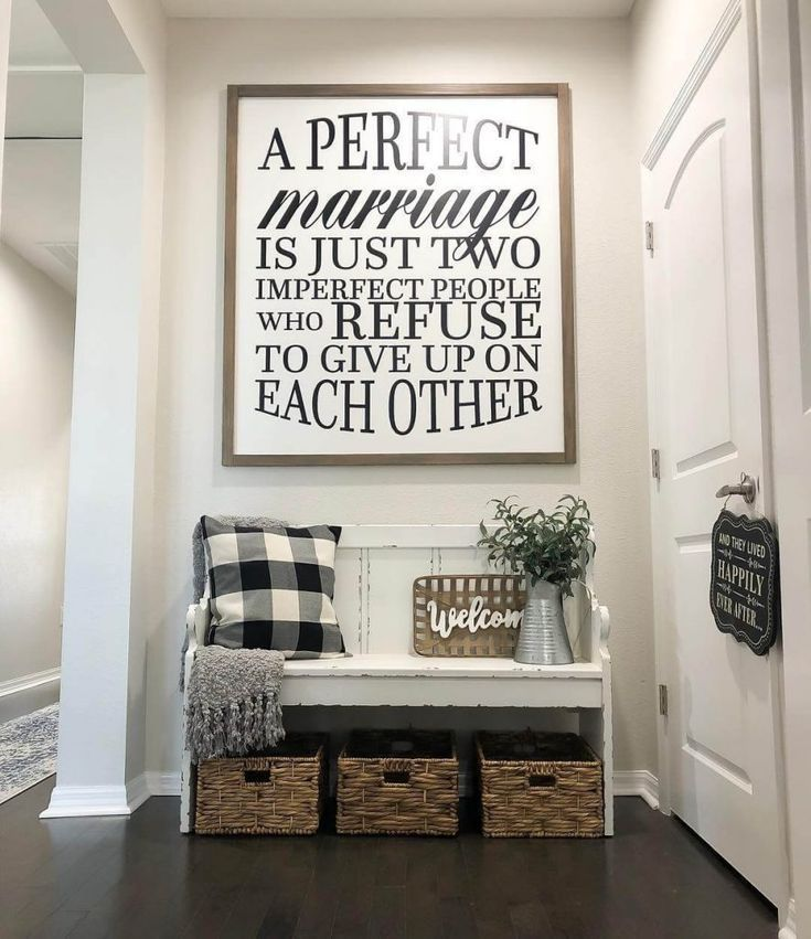17 Amazing Entryway Wall Decor Ideas To Create Memorable First Impression Homedecorquote Check More At In 2020 Farm House Living Room Entryway Wall Decor Home Decor