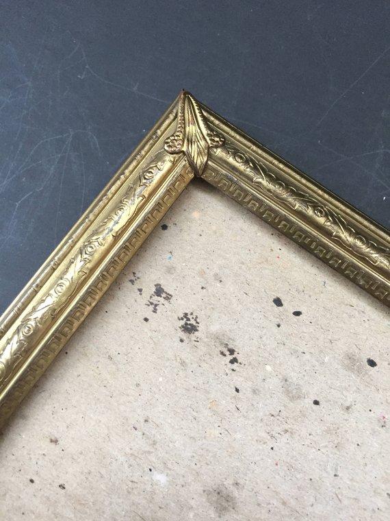 Vintage Gold Metal Frame Gold Metal Picture Frame 8 X 10 Tabletop