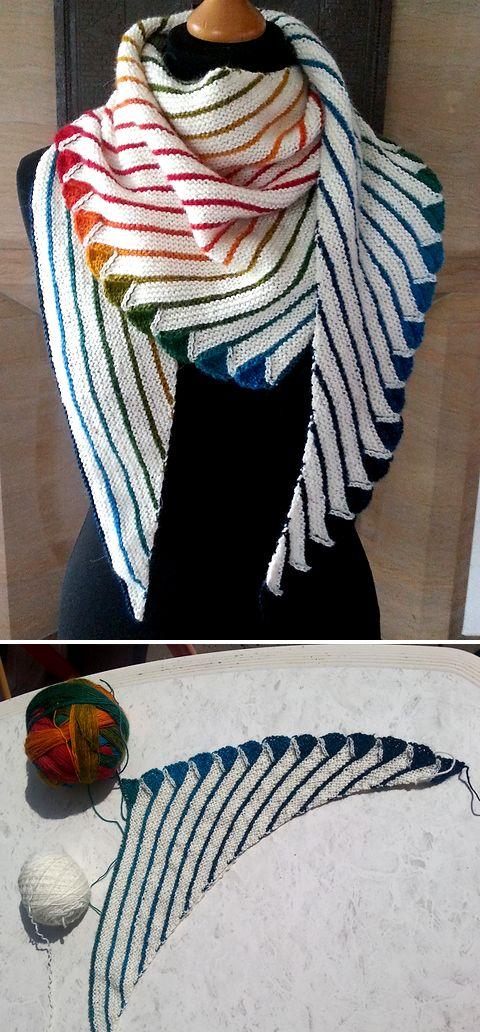 Endless Rainbow - Knitting Pattern  #knittinginspiration