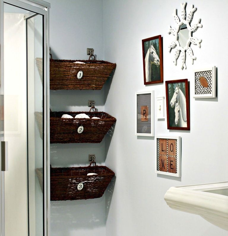 Bathroom, Wicker Basket Bathroom Wall Organizer: How Do You Design ...