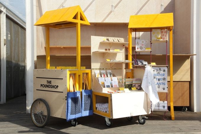pound shop popup carts