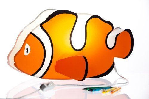 Nursery Lamp Kid S Room Light Colorful Led Decorative Lamp Clownfish Design By Britta Products Http Www Ama Kids Room Lighting Nursery Lamp Lamp Decor