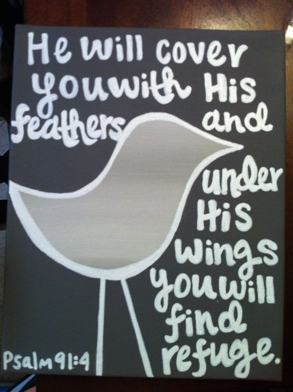 BIble Verse Bird Canvas by HayHaysDesigns on Etsy, $22.00