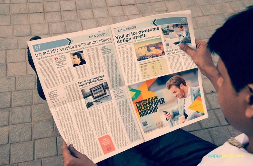 Outdoor Newspaper Advertising Mockups  Mockup And Editorial Design