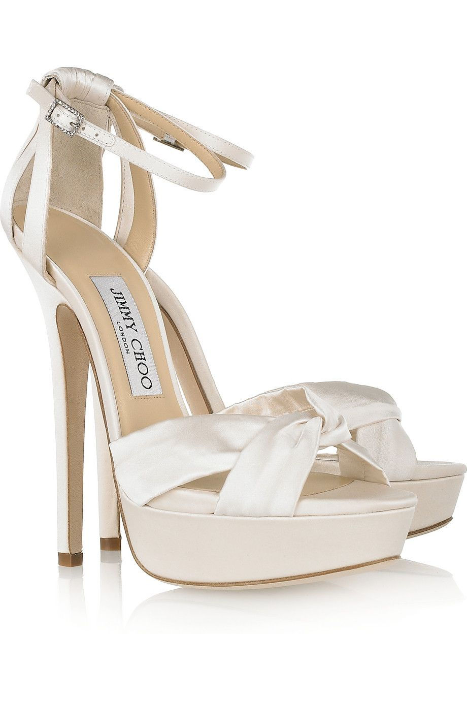 jimmy choo wedding shoes bride s heels Jimmy Choo satin 6 5 inches just for ceremony or your