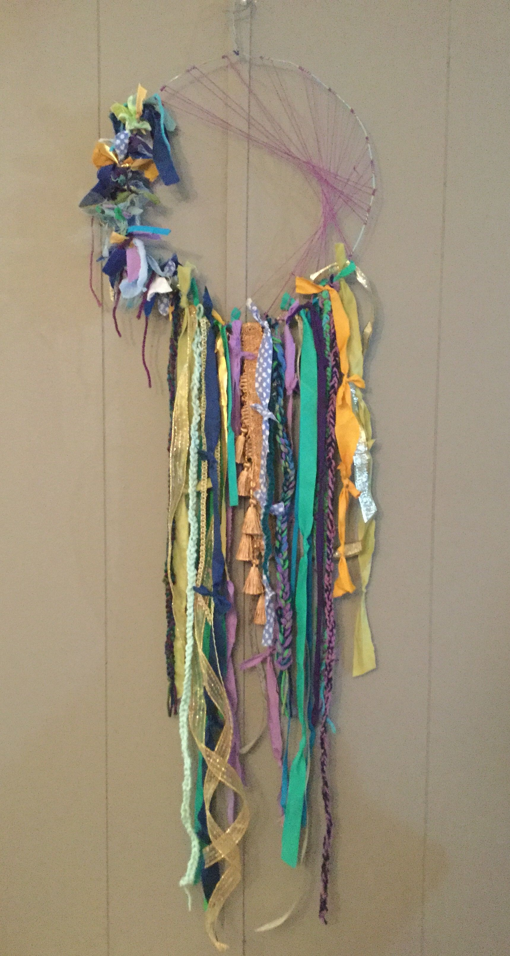 Peacock Dream Catcher Rag Ribbon Diy Hippie Bohemian Gypsy Boho