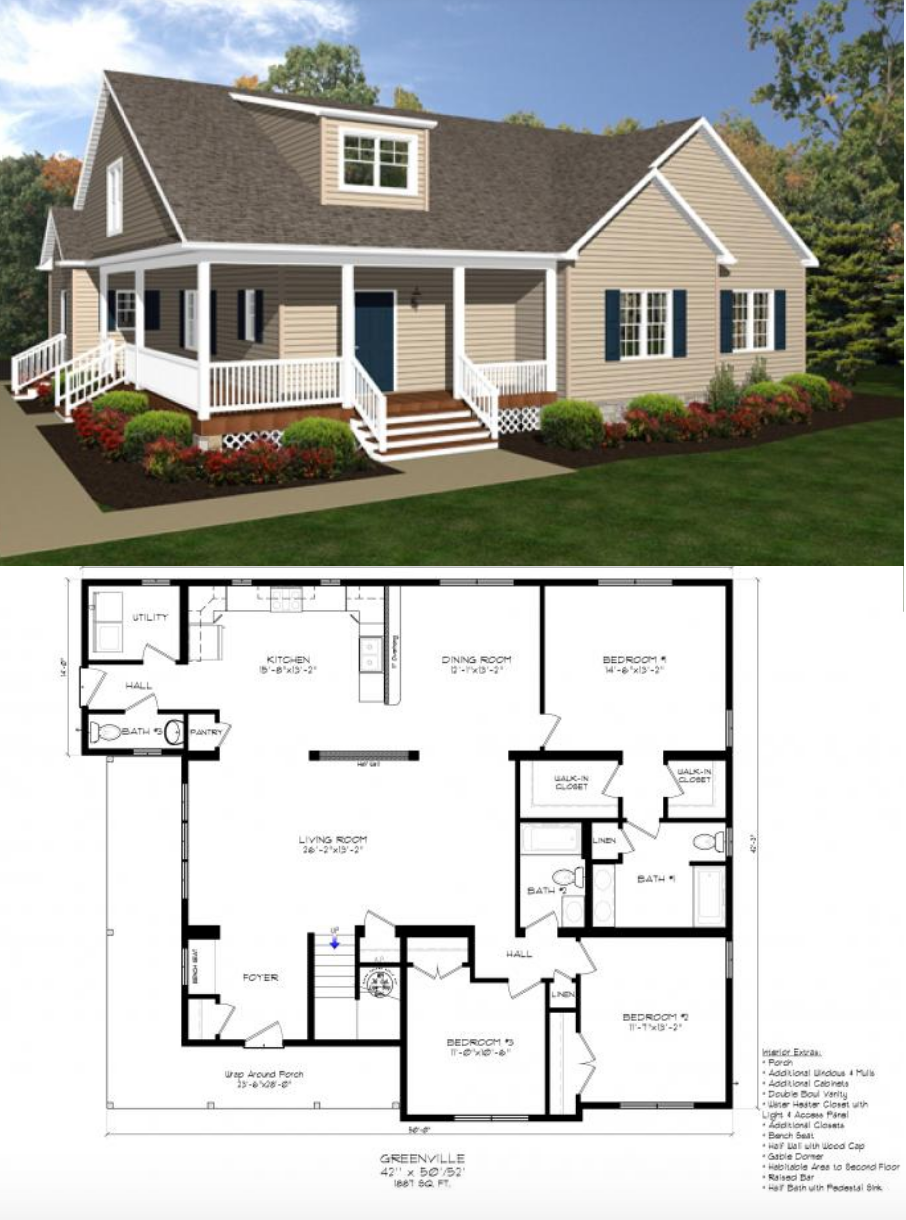 The Greenville In 2020 Dream House Plans New House Plans Floor Plans