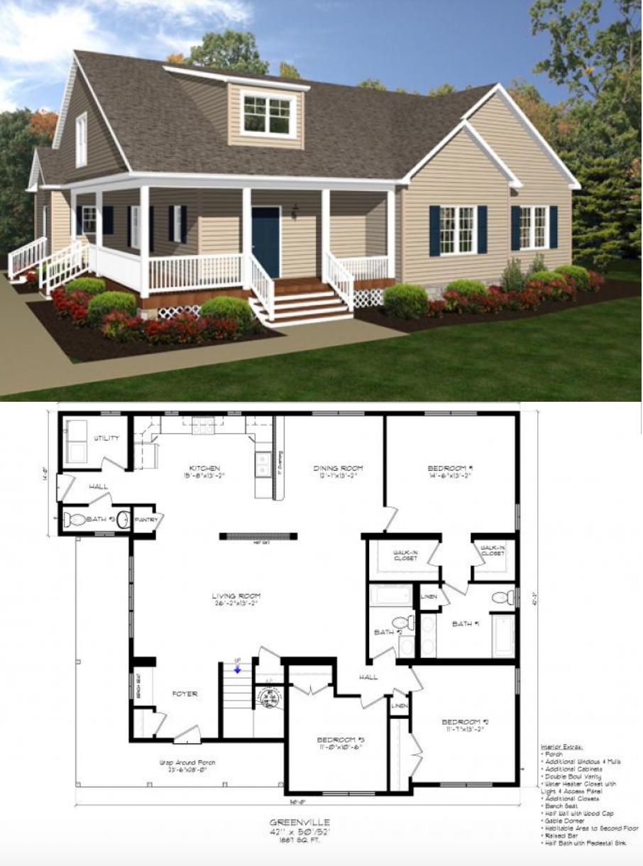 The Greenville Dream House Plans Floor Plans New House Plans