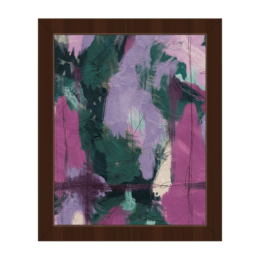 Horizon Mumbo Jumbo Green & Purple Framed Canvas Wall Art