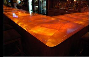 Charmant Designer Translucent Stone Counter Tops