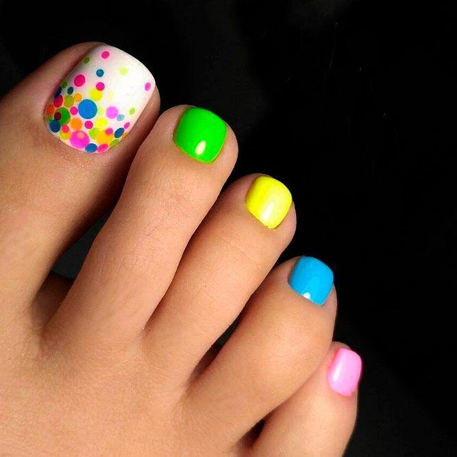 beautiful nail design toes