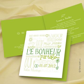 mariage jeu de mots vert wedding. Black Bedroom Furniture Sets. Home Design Ideas
