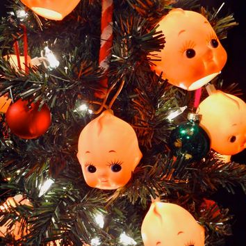 delightfully creepy baby doll head string lights unique halloween decorations horror decor kewpie