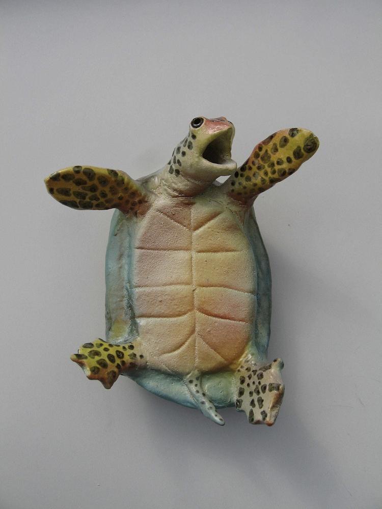 Ceramic Turtle Art Sculpture Clay Ceramic Turtle