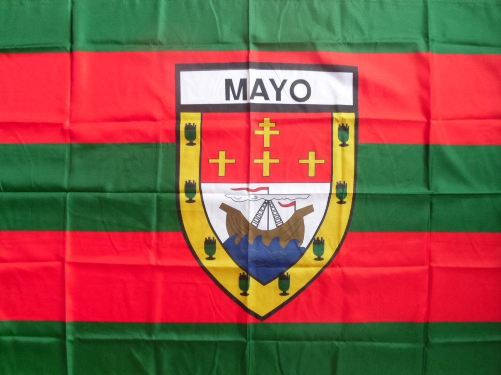 Mayo GAA Official 5 x 3 FT Flag Crested Irish Gaelic Football Hurling