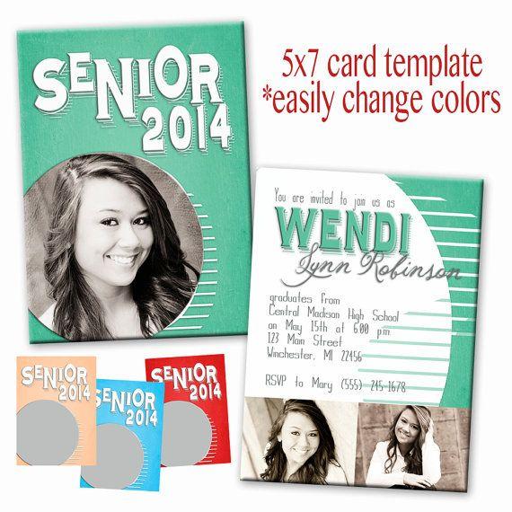 PSD senior graduation invitation card photoshop template for ...