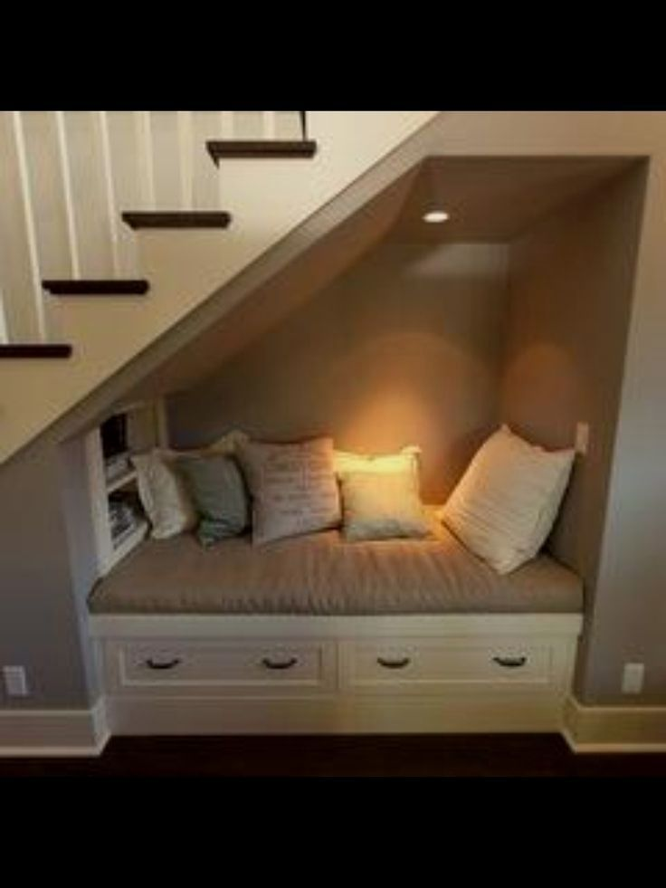 Under The Basement Stairs Reading Nook While Waiting For