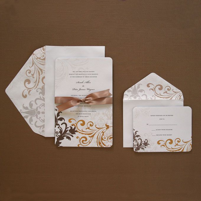 champgan chocolate weddings brides wedding collection michaels wedding invites stationery - Wedding Invitations Michaels