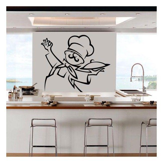 Decorar paredes cocina chef en 2019 vinilos decorativos - Decorar paredes cocina ...