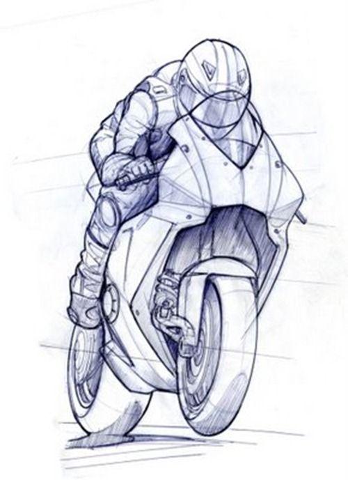 Resultado de imagen de dibujos motos harley davidson  Otro Arte