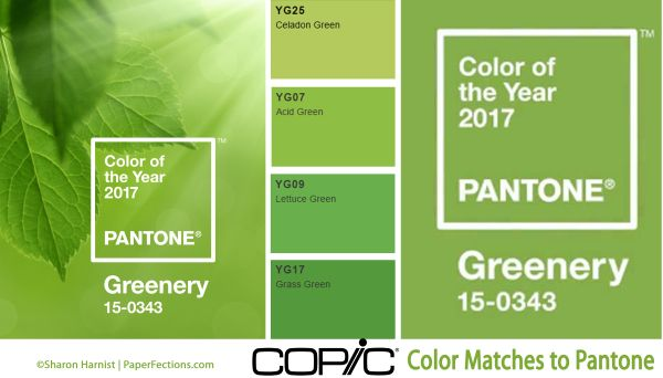 pantone color of the year 2017 greenery copic matches 309 494c