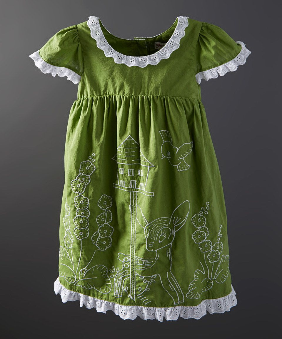 Green dress baby images  Look what I found on zulily Green Woodland Embroidered Dress