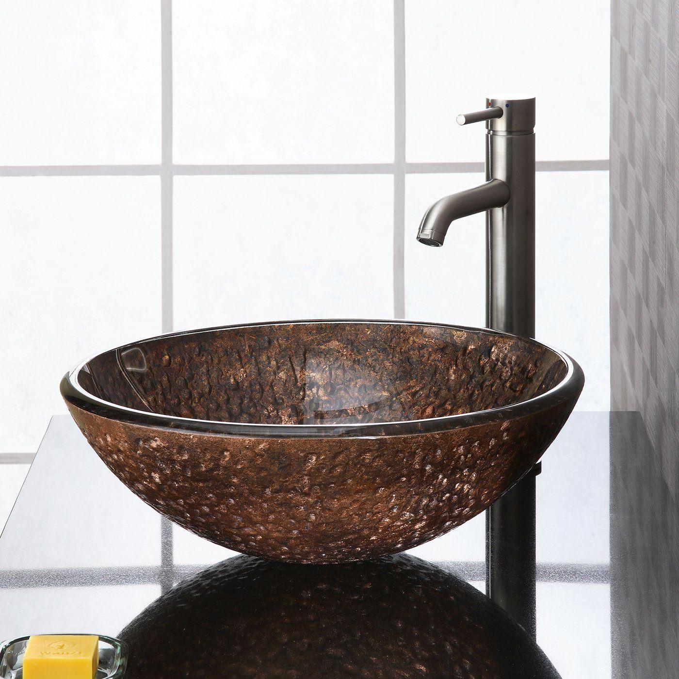 Bathroom Sinks Lowes Canada shop ryvyr rve165scg reflex vessel sink, copper at lowe's canada