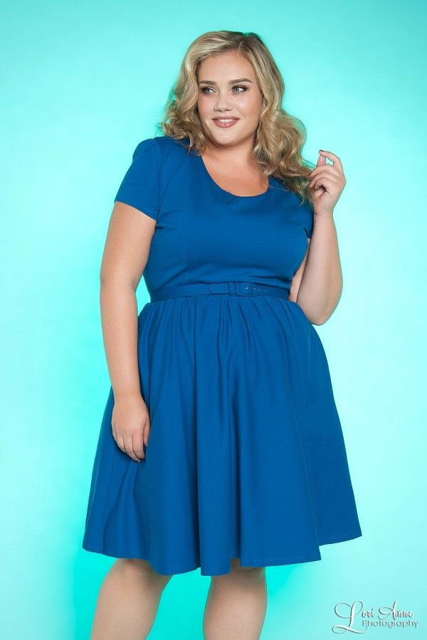 Katie Dress in Royal Blue - Plus Size