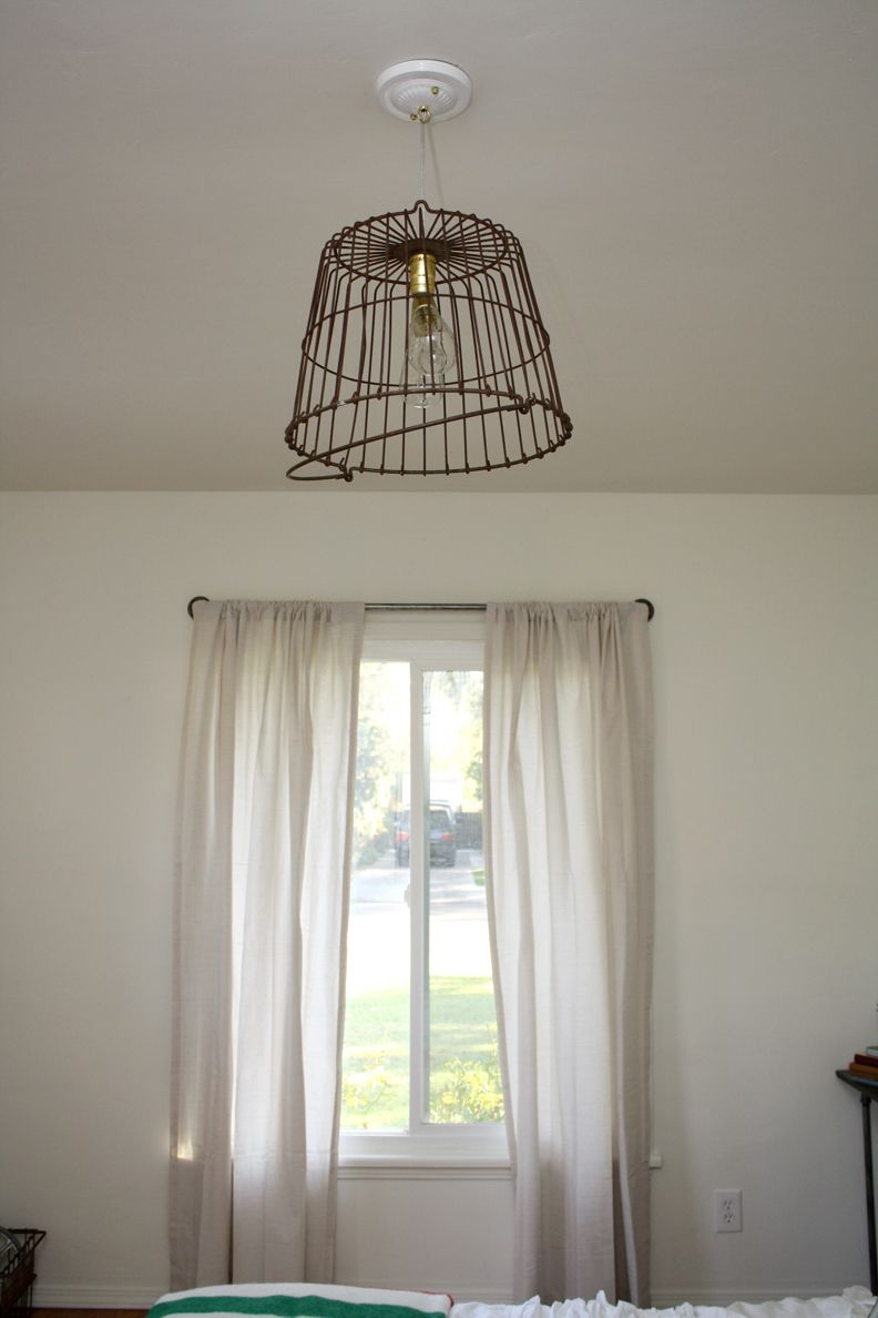 We Sure Had A Lot Of Fun With This Diy Vintage Basket Light Fixture Wire You Can Find Out More Details At The Link Image Lamplightingfixtures
