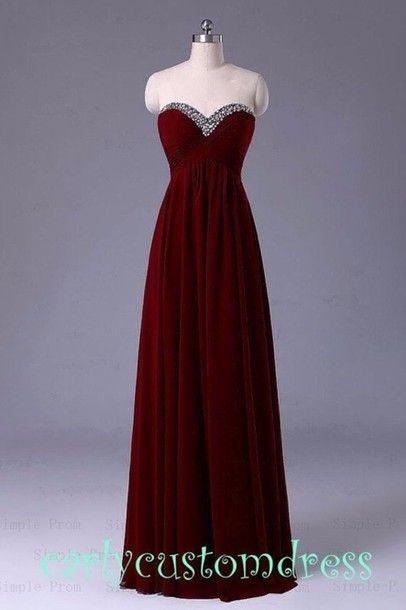 ff78816b6dc Maroon tube dress