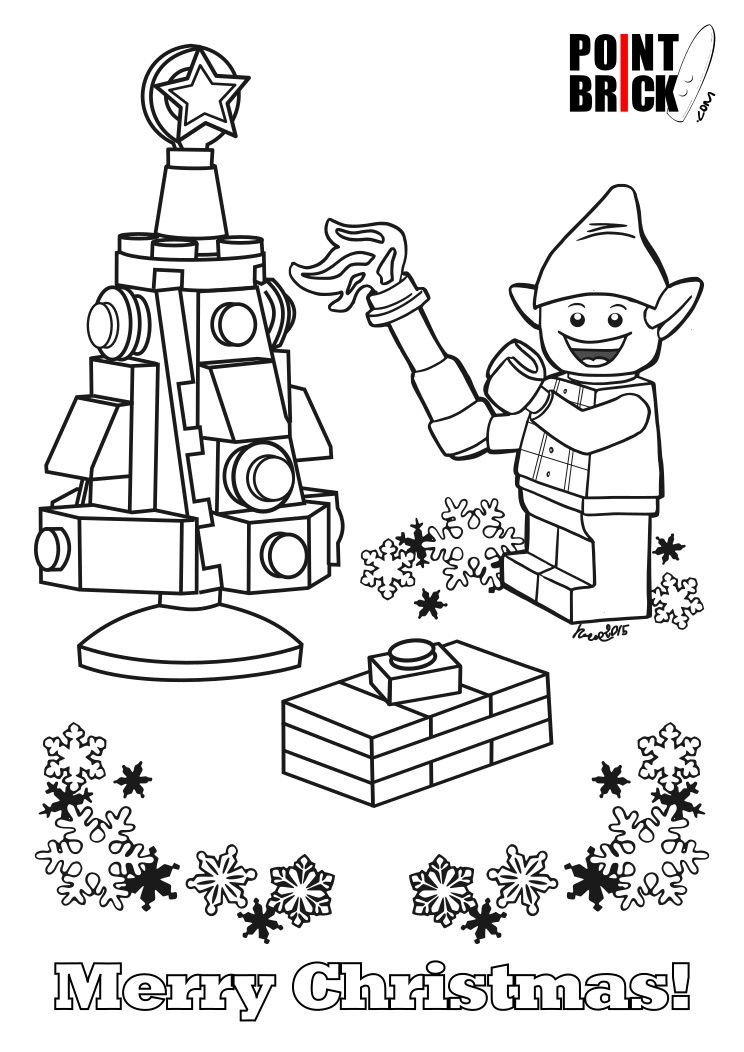Lego coloring pages by Cari Hamlin on Christmas