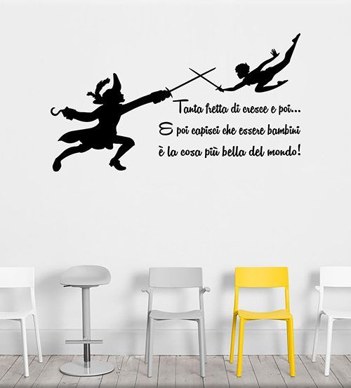 Adesivi murali frase peter pan adesivi murali bambini pinterest peter pan ideas e design - Adesivi murali bambini ikea ...
