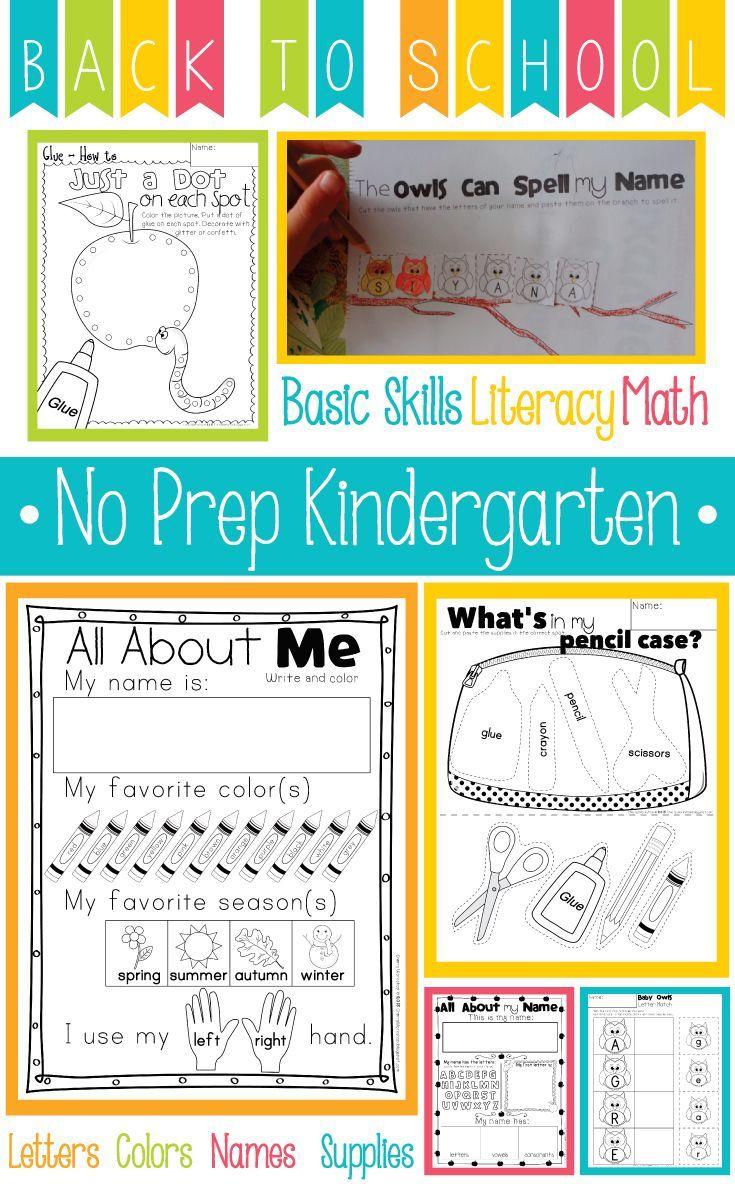 Back to School Activities Kindergarten | TPT | Pinterest | Pre ...
