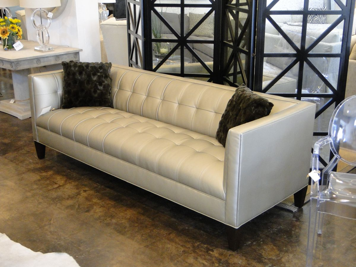 Mitchell Gold Kennedy Sofa In Alloy   Pewter.